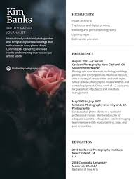 15+ Resume Design Tips, Templates & Examples   Photographer ... Leading Professional Senior Photographer Cover Letter 10 Freelance Otographer Resume Lyceestlouis Resume Example And Guide For 2019 Examples Free Graphy Accounting Sample Full Writing 20 Examples Samples Template Download Psd Freelance New 8 Beginner 15 Design Tips Templates Venngage