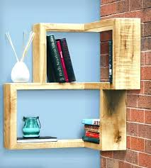 Wood Corner Shelves Floating Rustic