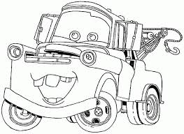 Transportation Cars Movie Colouring Pages Free For Toddler