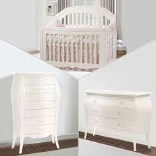 Sorelle Dresser French White by Natart Allegra 3 Piece Nursery Set In French White Crib 3