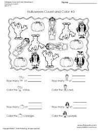 Halloween Count And Color Worksheets 3 4