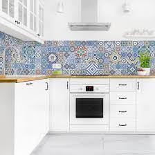 küchenrückwand fliesenspiegel aufwändige portugiesische