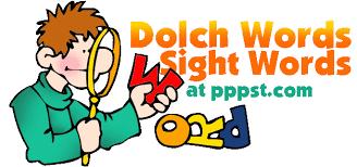 Kindergarten Sight Word Clipart 1