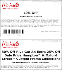 Michaels Coupons - 40% Off A Single Item At Michaels, Or