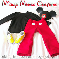 Mickey Mouse Halloween Stencil by Taking Time To Create A Simple Mickey Mouse Costume
