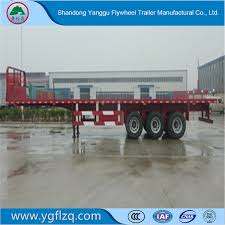 China 35-60t 3 Fuhua Axles 20FT 40FT Container/Utility/Cargo Flatbed ...