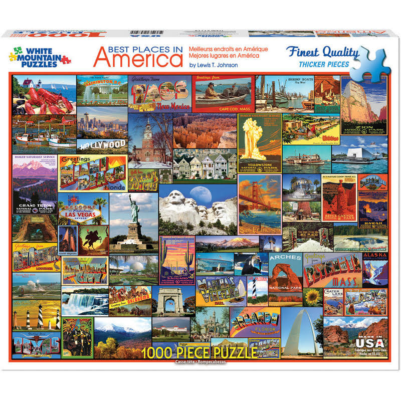 White Mountain Puzzles Best Places in America Jigsaw Puzzle - 1000 Piece