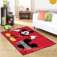Disney Mickey Mouse Head Round Rug for Kids Character Bedroom 75 X
