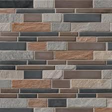Driftwood Hexagon 6mm Glass Mosaic Tiles Mosaic Tile Direct