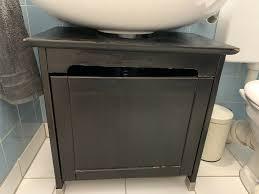 ikea hemnes waschbeckenunterschrank schwarzbraun