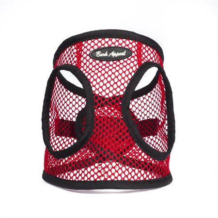 Bark Appeal SRNEW-M Netted EZ Wrap Harness, Red - Medium