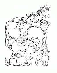 Farm Animals Coloring Page For Kids Animal Pages Printables Book Pdf Medium Size
