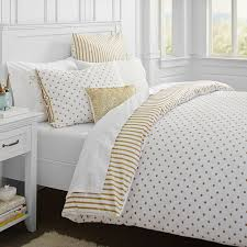 The Emily & Meritt Metallic Dottie Duvet Cover Sham