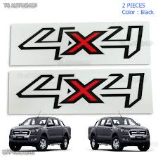 100 Ford Stickers For Trucks Details About Pair Set Sticker Decals 4x4 Black Red Ranger T6 Ute Pickup 2012 2018