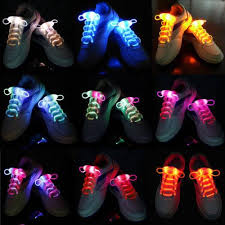 2017 led shoelaces luminous shoe laces flash light up glow stick