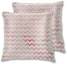 nonebrand kissenbezug romantisch rosa braun chevron