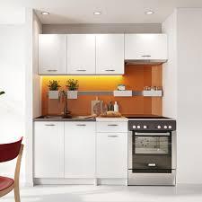 mirjan24 küche mela 180 küchenzeile 5 schrank module kombinierbar küche set küchenmöbel weiß beige