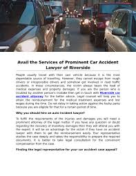 100 Riverside Car Accident Lawyer Avail The Services Of Prominent Of