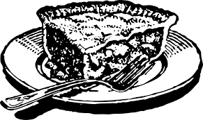 Slice Pie Black Dessert Piece Food Plate Crust