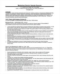 Marketing Director Resume Samples Sample Manager 2017