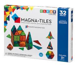 magna tiles clear colors 32 piece set walmart com