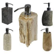 seifenspender stein braun natur bad flüssigseife behälter naturstein dispenser