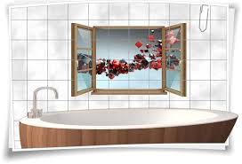 fliesen aufkleber fliesen bild fenster 3d würfel abstrakt quadrat rot schwarz kunst bad wc aufkleber folie deko