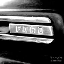 100 Ford Truck Logo Classic Americana Retro Square Format Conte Crayon