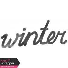 Winter Word Art Template