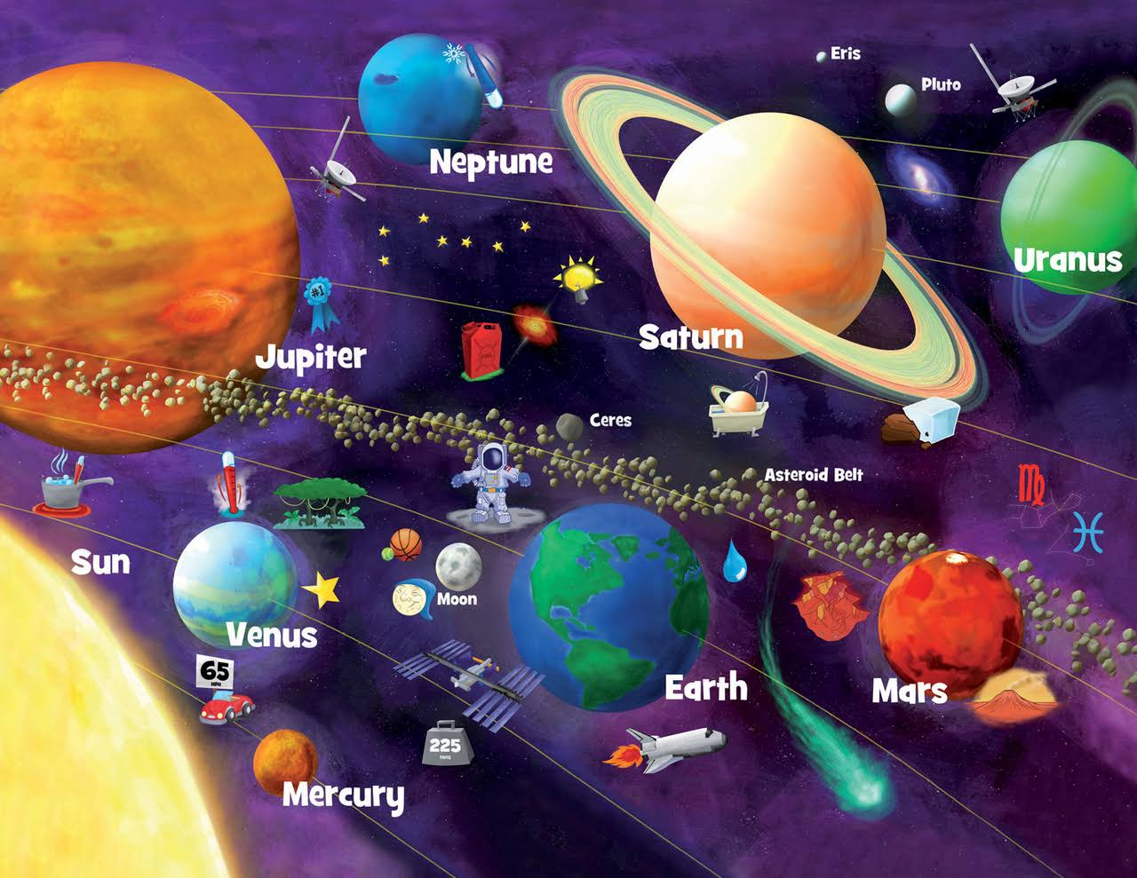 MasterPieces Solar System Glow-in-the-Dark 60-Piece Jigsaw Puzzle