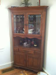 Shabby Chic Dining Room Hutch by Decorating Using Astounding Corner Hutch For Cozy Home Furniture