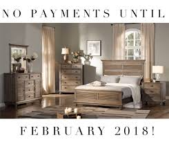 current promotion no payments until february 2018 furniture