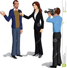 Collection Of Free Celebrities Clipart News Interview Download On