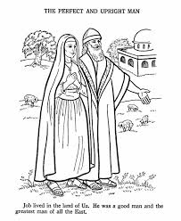 Job Bible Story Coloring Page