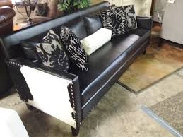 Transitional Living Room Leather Sofa by Armen Living Dallas Leather Cowhide Sofa 795 Transitional