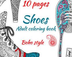Adult Coloring Book 10 Printable Pages Digital Boho