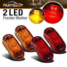 100 Marker Lights For Trucks Amazoncom Amber Red 25 2 Diode Oval LED Trailer Truck Clearance