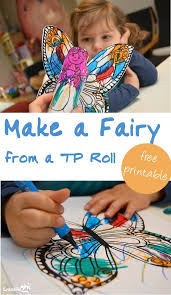 Easy Activities For Toddlers Make A Fairy From Toilet Paper Roll