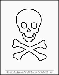 Sugar Skull Pumpkin Carving Patterns by Skull And Cross Bones Stencil Wsxff Fresh Best S Of Skull Outline
