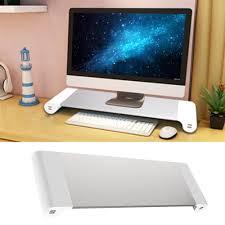 Monitor Shelf For Desk by Besegad Decorative Wood Desktop Monitor Stand Riser Holder Over