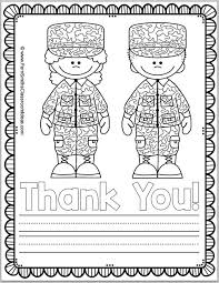 Free Memorial Day Coloring Page And Thank You Notes