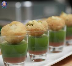 what does canape pani puri canape with tangy spicy dip pani puri is the