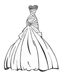Fancy Coloring Pages Dresses 84 For Line Drawings With