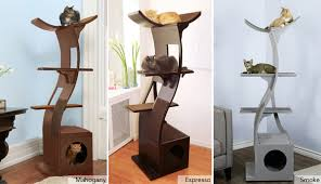 modern cat tower lotus cat tower from the refined feline modern luxury cat towers