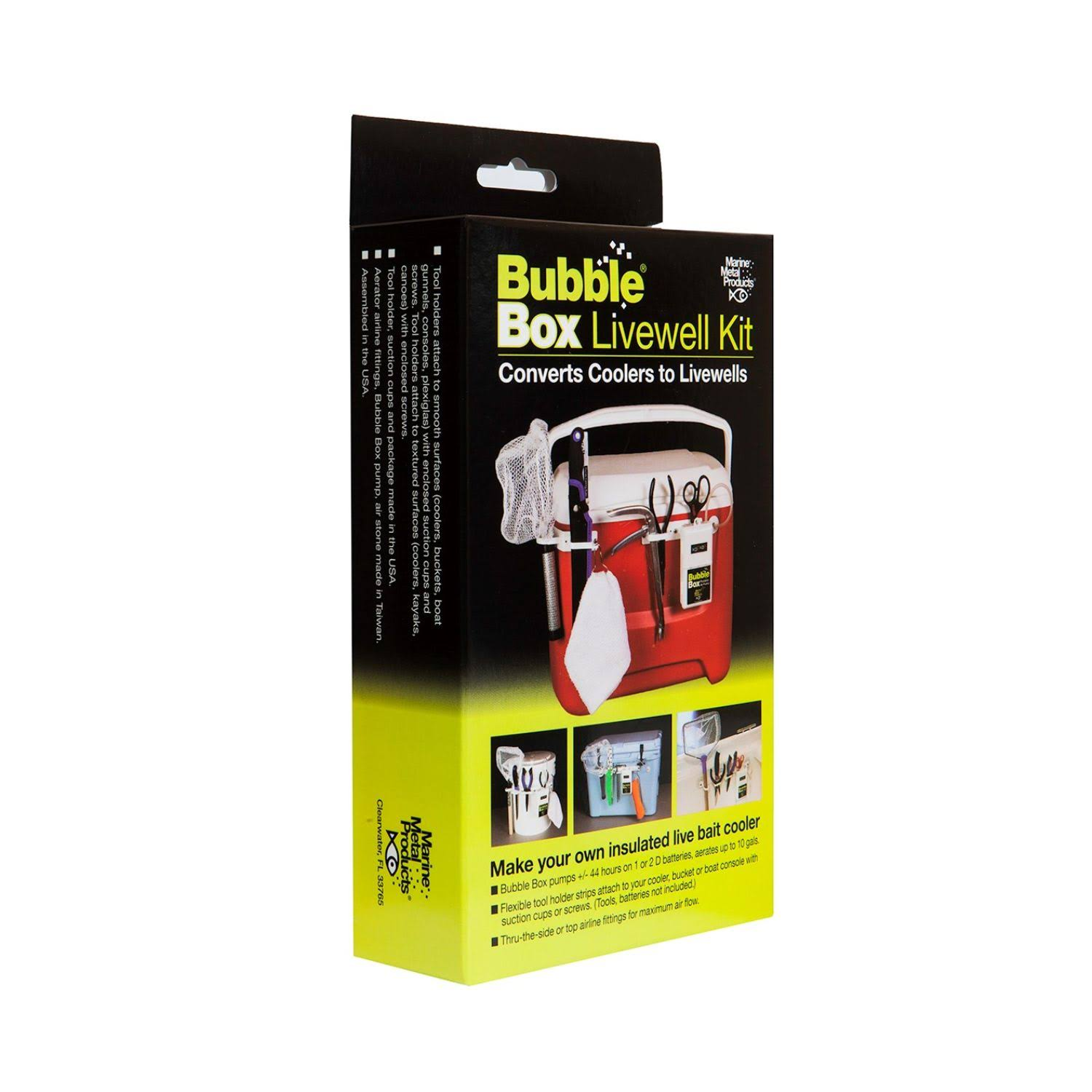 Marine Metal Products LWK-11 Bubble Box Livewell Kit with Aerator