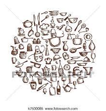 clipart ustensiles cuisine croquis dessin pour ton