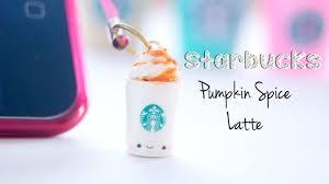 Starbucks Pumpkin Spice Frappuccino Bottle by Starbucks Pumpkin Spice Latte Dust Plug Polymer Clay Tutorial