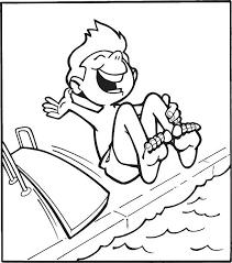 Boy Diving Board Vector Art Illustration