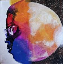 Man On The Moon End Of Day Kid Cudi Inspired Canvas Album