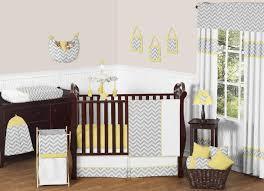 sweet jojo designs zig zag yellow and gray 11 piece baby crib